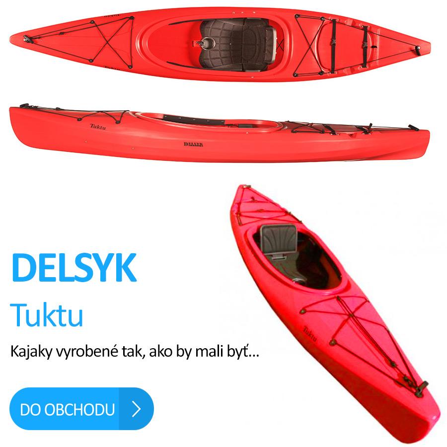 Turistický plastový kajak delsyk tuktu kupiť