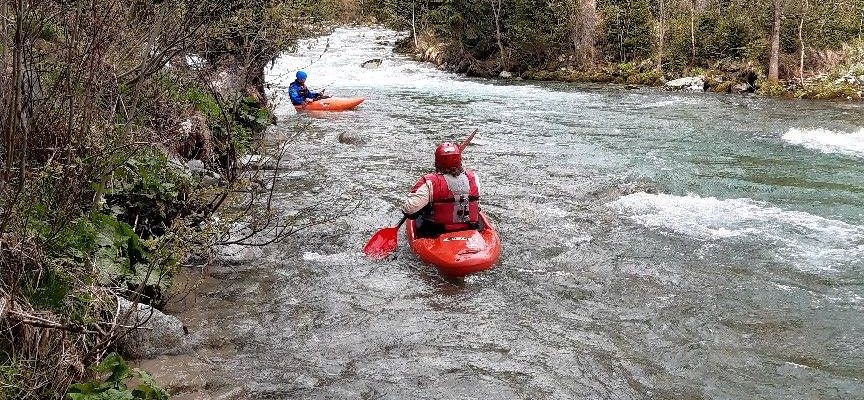 splav rieky bela na kajaku